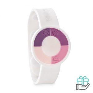 UV-sensor horloge wit bedrukken