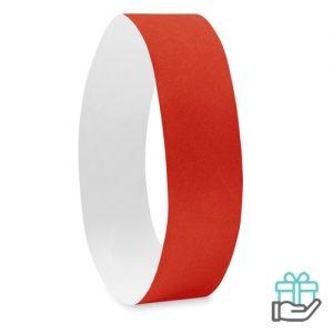 Vel 10 event armbandjes rood bedrukken