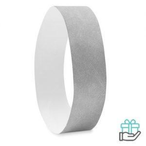 Vel 10 event armbandjes zilver bedrukken