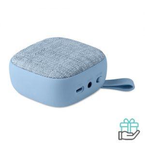 Vierkant bluetooth luidspreker baby blauw bedrukken
