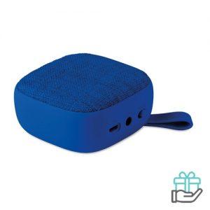 Vierkant bluetooth luidspreker koninklijk blauw bedrukken