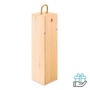 Wijnkist paulowniahout houtkleur bedrukken