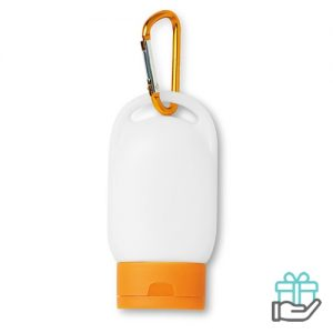 Zonnebrandcrème oranje bedrukken