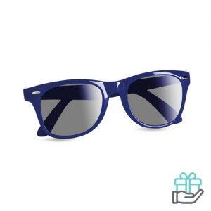 Zonnebril UV-bescherming blauw bedrukken