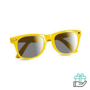 Zonnebril UV-bescherming geel bedrukken
