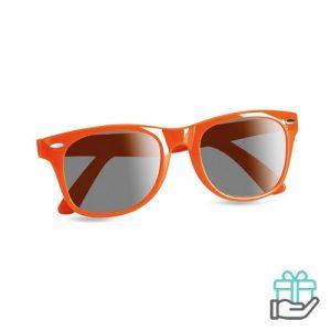 Zonnebril UV-bescherming oranje bedrukken