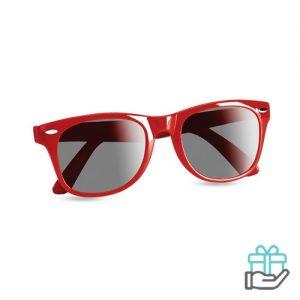 Zonnebril UV-bescherming rood bedrukken