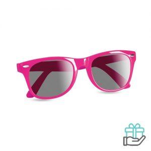 Zonnebril UV-bescherming roze bedrukken