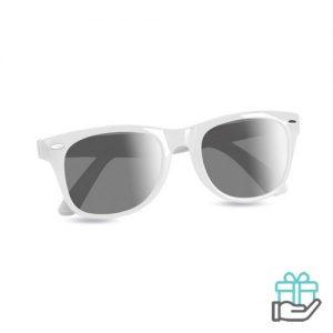 Zonnebril UV-bescherming wit bedrukken