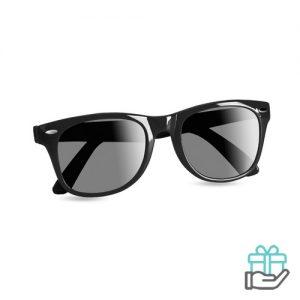 Zonnebril UV-bescherming zwart bedrukken