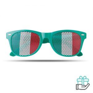 Zonnebril vlag groen bedrukken