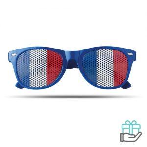 Zonnebril vlag koninklijk blauw bedrukken