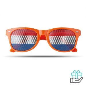 Zonnebril vlag oranje bedrukken